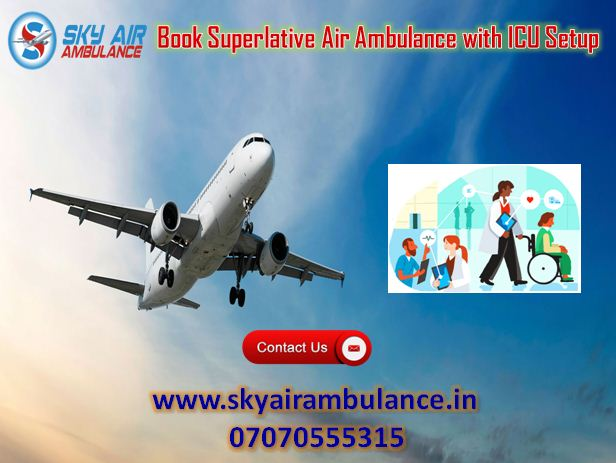 Use Sky Air Ambulance Service in Ahmedabad with CCU Speciali-Services-Health & Beauty Services-Health-Ahmedabad