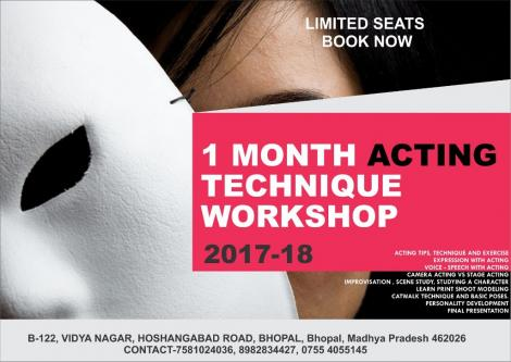 Jun 4th – Jun 30th – Registration open 1 MONTH ACTING TECHNIQUE WORKSHOP 2018 2k19-Jobs-Arts & Culture-Sagar