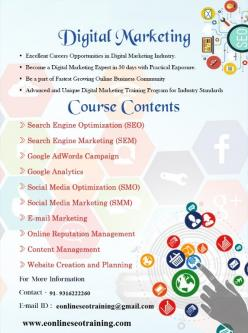 Sep 2nd – Dec 30th – seo training in Chandigarh|digital marketing training course-Classes-Other Classes-Chandigarh