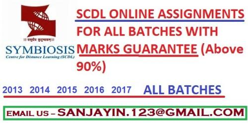Oct 8th – Feb 4th (Mon) – SCDL ASSIGNMENTS WITH MARKS GUARANTEE ABOVE 90 - 100-Classes-Other Classes-Raipur