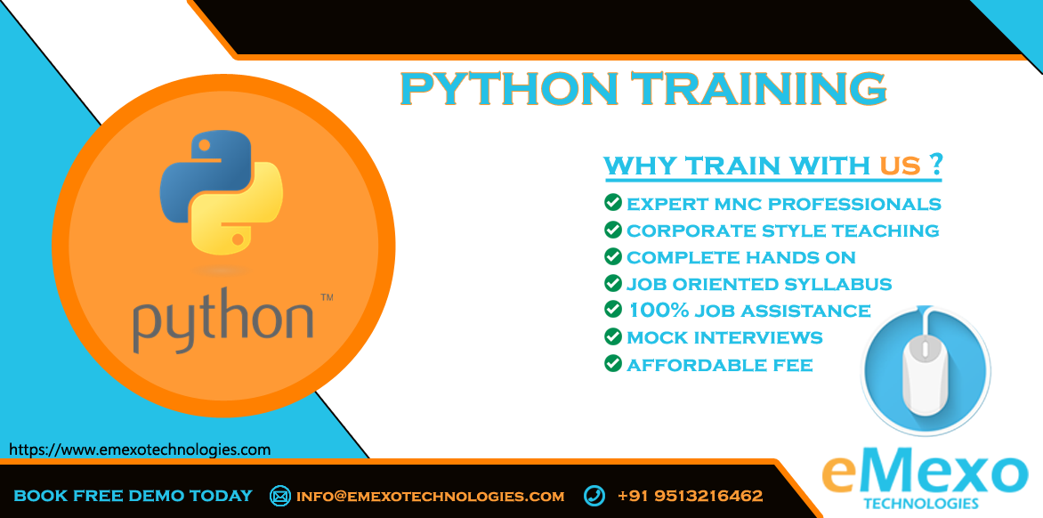 Best Python Training Institute in Electronic City - eMexo Te-Classes-Computer Classes-Programming Classes-Bangalore
