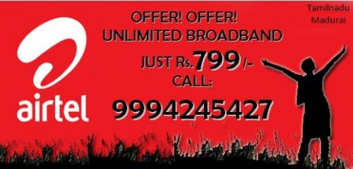 airtel unlimited broadband available in madurai call us for more-Services-Computer & Tech Help-Madurai