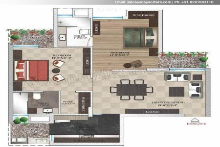 2 BR, 1152 ft² – GET 2BHK in Prime Location of Zirakpur-Real Estate-For Sell-Flats for Sale-Chandigarh