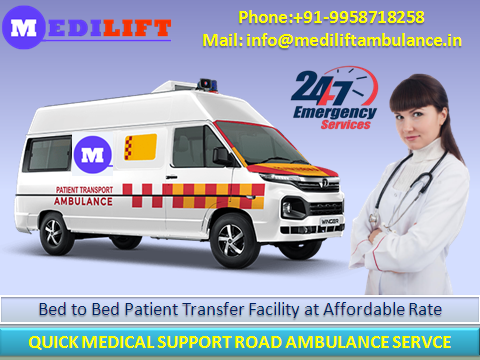 Ambulance Service in Kapashera with Medical Team by Medilift-Services-Health & Beauty Services-Health-Delhi