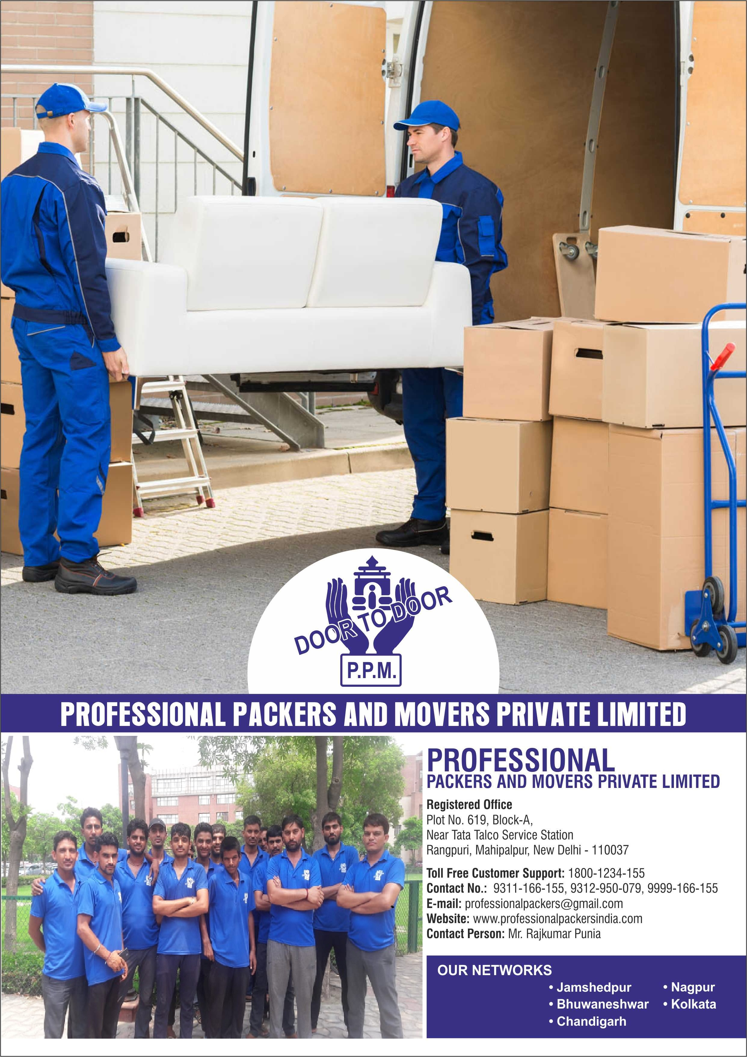 Professional Packers And Movers Chandigarh Packers Movers-Services-Moving & Storage Services-Chandigarh