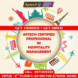 APTECH CERTIFIED PROFESSIONAL IN HOSPITALITY MANAGEMENT-Jobs-Hospitality Tourism & Travel-Delhi