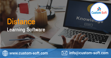 Distance Learning Software by CustomSoft-Services-Web Services-Pune