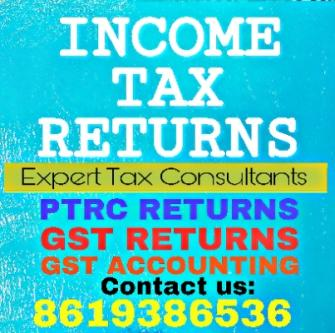Income tax return, GST return,GST Accounting,GST registration,-Jobs-Administrative & Support-Hyderabad