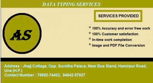 Book Publishers Typing Online and Offline.-Services-Other Services-Shimla