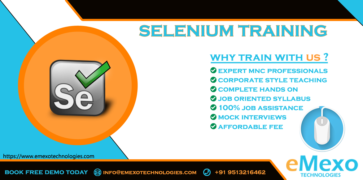 Best Selenium Training Institute in Electronic City -eMexoT -Classes-Computer Classes-Programming Classes-Bangalore