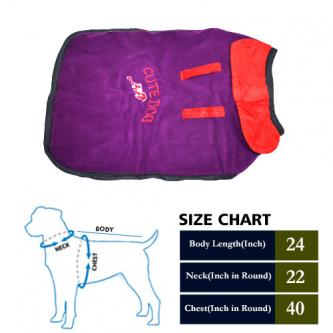 UPto 50 Percent Off on Dog Coat Cute Purple with Red Collar-Pets-Pet Supplies-Delhi