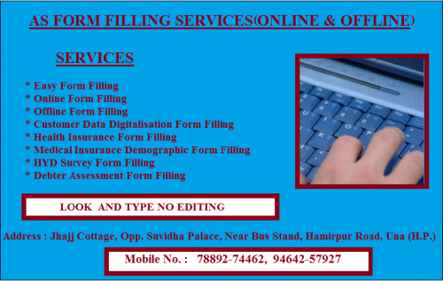 Online and offline form filling services.-Services-Other Services-Shimla