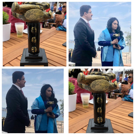 Sandeep Marwah Honored With Life Time Achievement Award At C-Community-Artists-Noida
