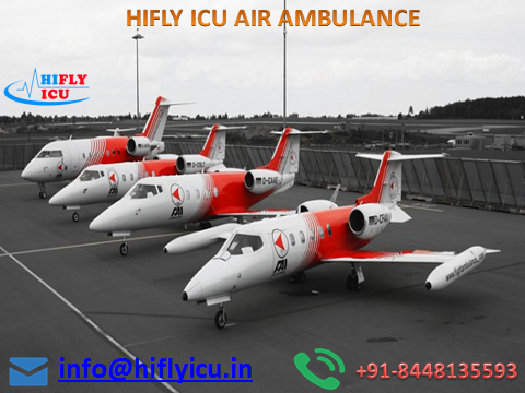 Book Cheapest-Price Air Ambulance in Hyderabad by Hifly ICU-Services-Health & Beauty Services-Health-Hyderabad