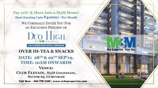 M3M Duo High at M3M Heights - 2 BHK Luxury Apartments for Sa-Services-Real Estate Services-Gurgaon