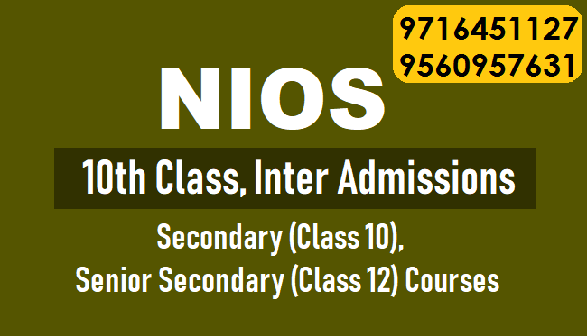 NIOS Online Admission Process for Class 10th / 12th in cp-Classes-Continuing Education-Delhi