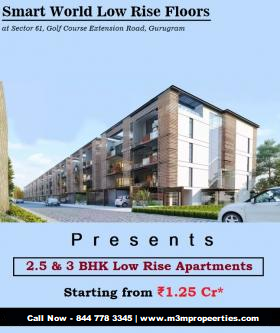 Smart World Sector 61  – 2 and 3 BHK low rise Apartments for-Services-Real Estate Services-Gurgaon