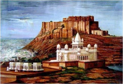JODHPUR FORT - Handpainted Art Painting-Jobs-Arts & Culture-Pune