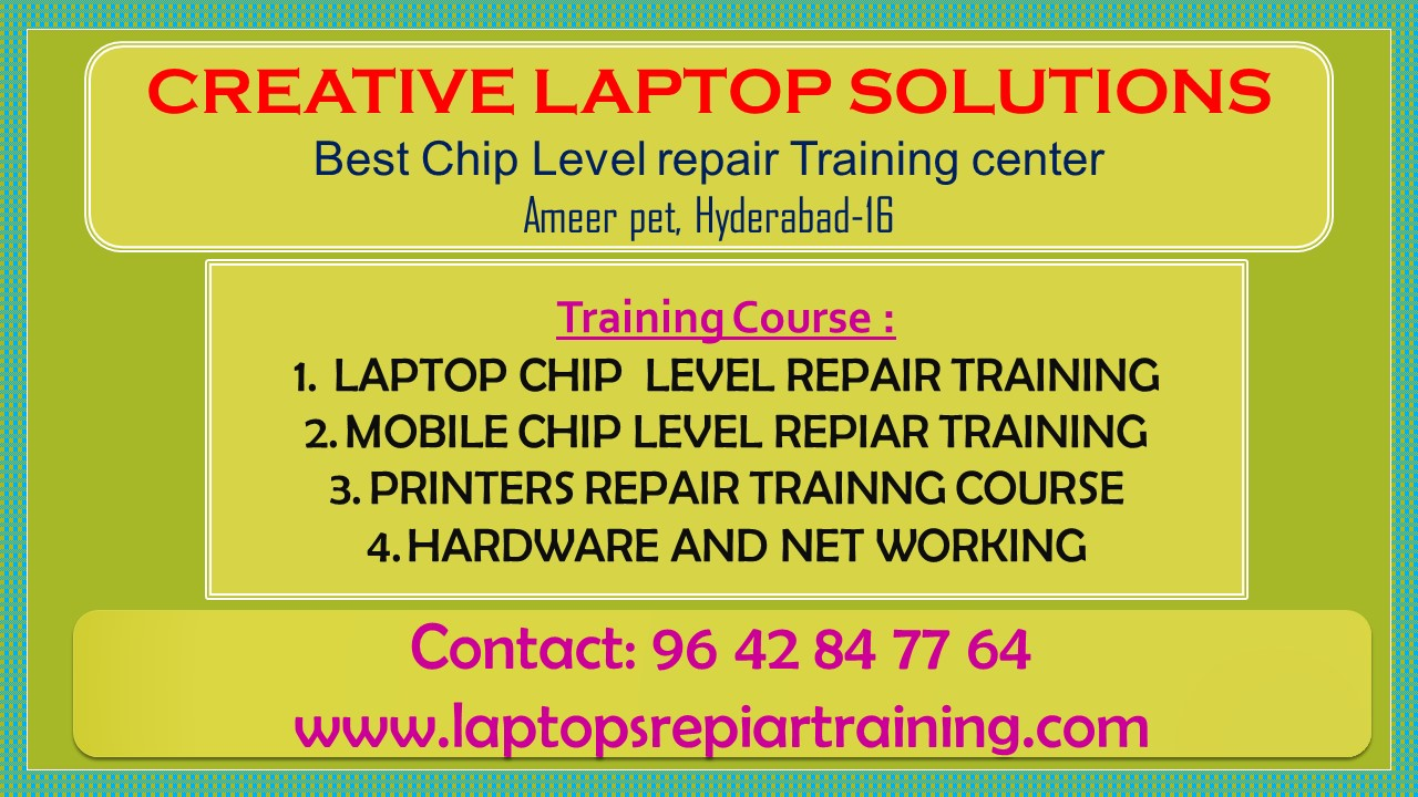 Laptop repairing course in Hyderabad-Classes-Computer Classes-Other Computer Classes-Hyderabad