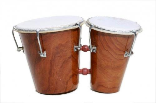 Musical Mart MMBG-L-03Two PieceBongo Drum(Brown) in 400-Community-Musicians & Bands-Hyderabad