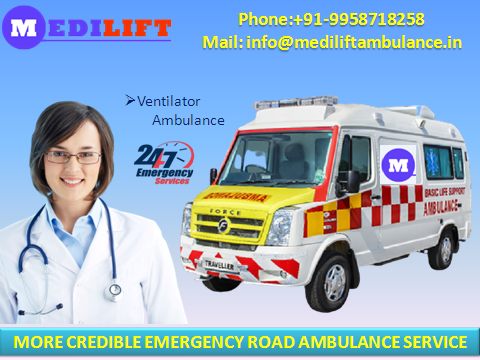 Quality Road Ambulance Service in Boring Road Patna-Services-Health & Beauty Services-Health-Patna