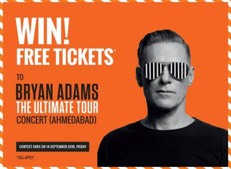 International Singer Bryan Adams in Town at 9th OCT18-Community-Musicians & Bands-Ahmedabad