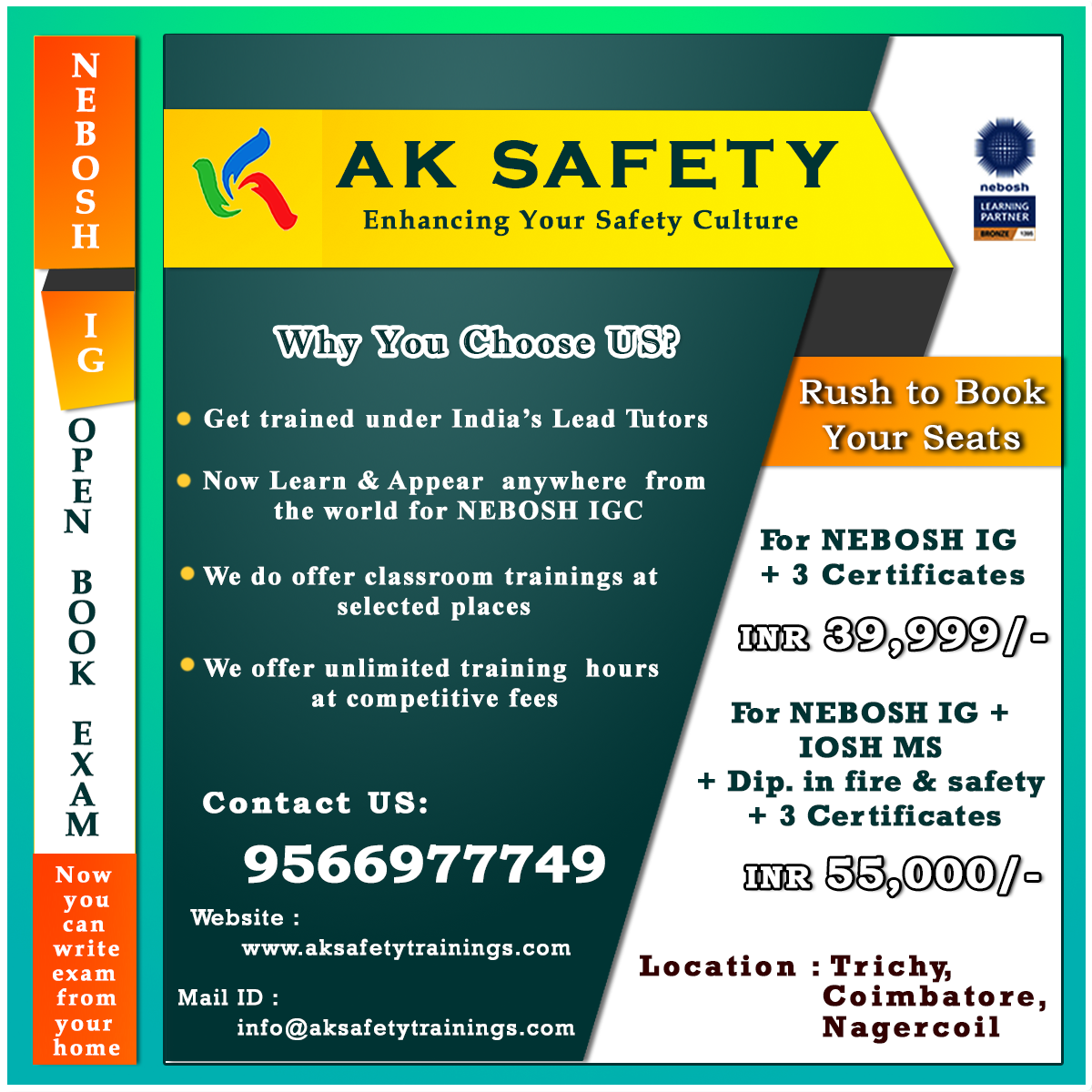 NEBOSH IG (OPEN BOOK EXAM)-Classes-Other Classes-Trichy