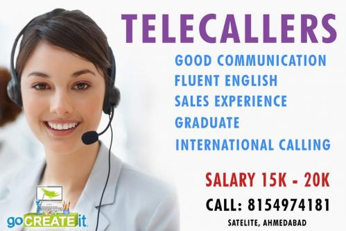 Telecallers..,.,..-Jobs-Customer Service & Call Centre-Ahmedabad