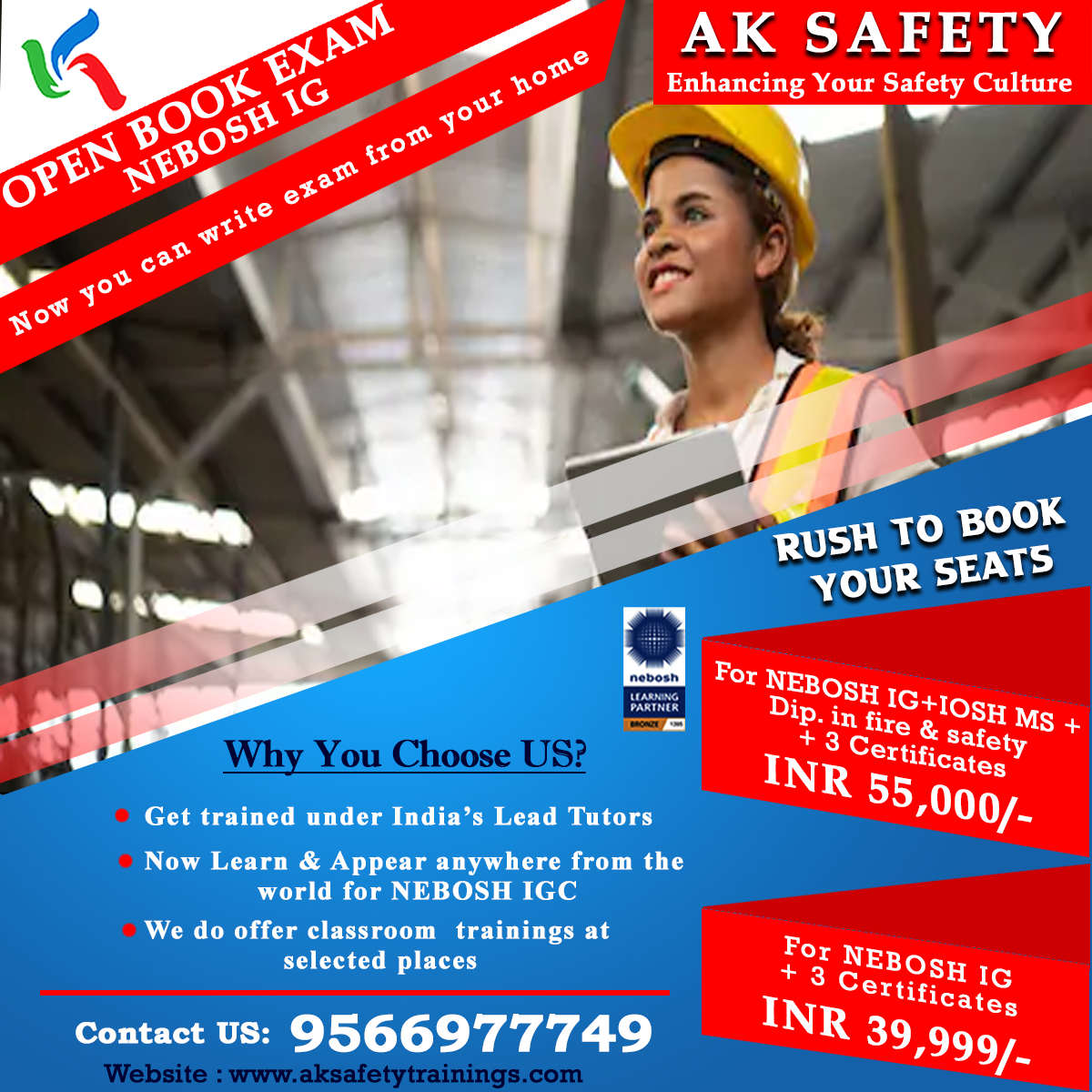AK SAFETY (NEBOSH IG)-Classes-Other Classes-Trichy