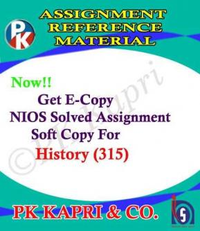 Nov 17th – Mar 17th – NIOS History 315 Solved Assignment 12th Hindi Medium 2018-19-Classes-Continuing Education-Shimla