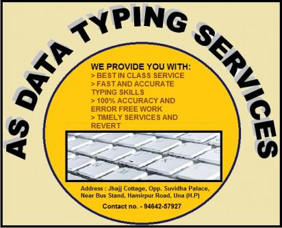 Online and offline Typing Sevices.-Services-Other Services-Shimla