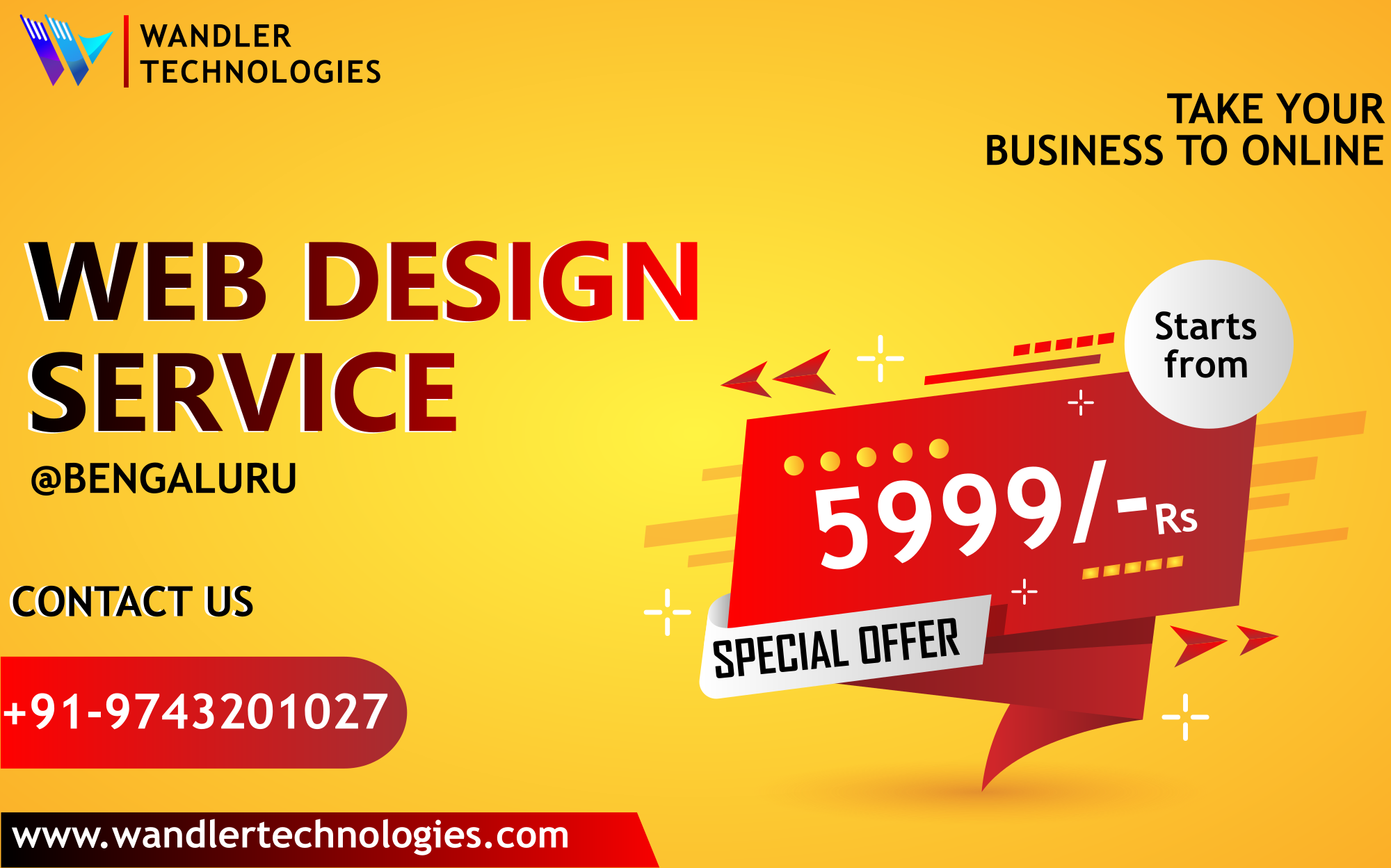 Website is at 5999/- rs only-Services-Web Services-Bangalore