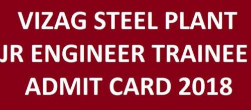 Vizag Steel Plant Jr Engineer Trainee Admit Card 2018-Jobs-Government & Public Service-Karnal