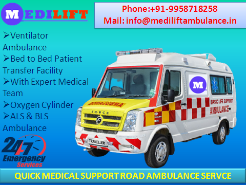 Most Usable Medilift Ambulance Service in Bhagalpur with ICU-Services-Health & Beauty Services-Health-Bhagalpur