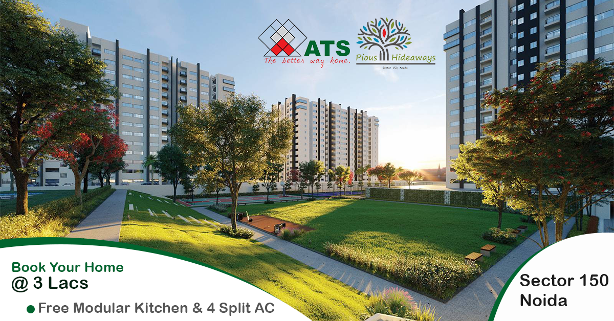 ATS Pious Hideaways offering 3 BHK Flats in Noida-Real Estate-For Sell-Flats for Sale-Noida