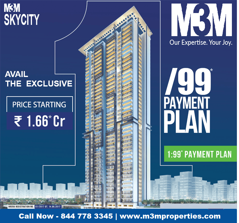M3M Skycity sector 65 - The Bliss Of A Cozy Home-Services-Real Estate Services-Gurgaon