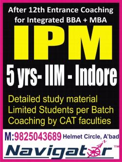 Jan 25th – May 25th – IPM coaching class ahmedabad NAVIGATOR is best classes-Community-Qualified Trainers-Ahmedabad