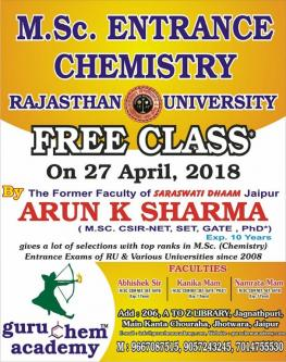 Sep 2nd – Dec 30th (Mon) – Guru Chem Academy is Best Bsc Coaching Classes in Jaipur-Classes-Continuing Education-Jaipur