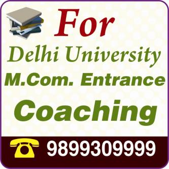 Jun 30th – Oct 28th – WHICH IS THE BEST INSTITUTE FOR M.COM ENTRANCE IN DELHI-Community-Qualified Trainers-Delhi