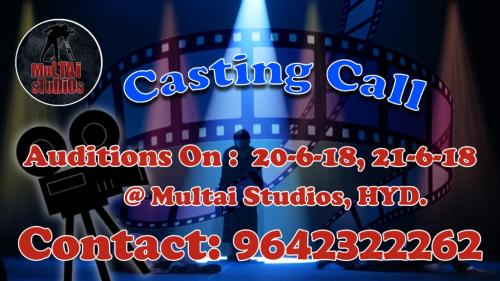 Acting Auditions for Actor and Actress in Multai Studios-Community-Artists-Hyderabad