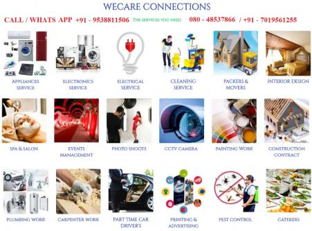 WeCare Connection PLUMBING SERVICES-Community-Household Help-Bangalore