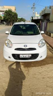 Preowned Nissan Micra, Storm white-Vehicles-Cars-Nissan-Jamnagar