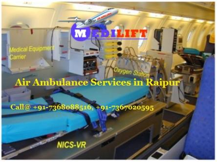 Get Best and Affordable Air Ambulance Services in Raipur by-Services-Health & Beauty Services-Health-Raipur