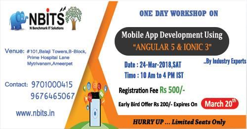 Mar 18th – Angular 5 and Ionic 3 Workshop Training-Classes-Other Classes-Hyderabad