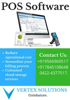 Promote your Business with our POS SOFTWARE at Vertex Solutions-Services-Web Services-Ramanathapuram