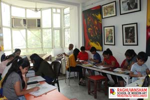 portrait classes at raghuvansham school of modern art -Classes-Art Music & Dance Classes-Delhi