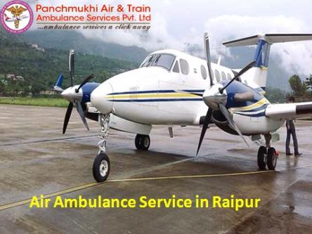 Affordable Air Ambulance Service in Raipur with best medical-Services-Health & Beauty Services-Health-Raipur