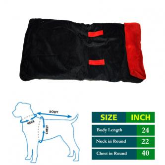 Get 46 Percent Off on Black Cottrige Dog Coat- 4petneeds-Pets-Pet Supplies-Chandigarh