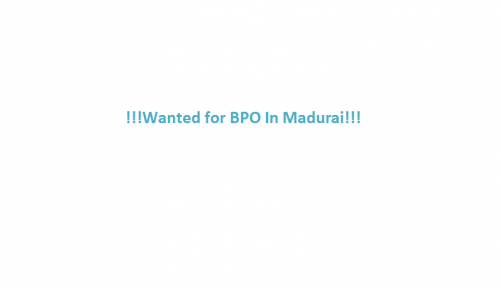 Looking For Data Entry Processors in BPO Service-Jobs-Customer Service & Call Centre-Madurai