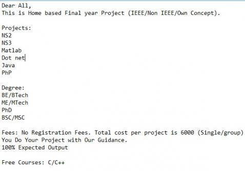 IEEE/Non IEEE/OWN FINAL YEAR PROJECTS IN MADURAI-Services-Computer & Tech Help-Madurai